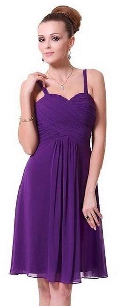 AMY Cadbury Purple Chiffon Prom Evening Bridesmaid Occasion Dress - www.eloises-secret-closet.co.uk