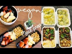 VEGAN MEAL PREP   Healthy & Easy - Ft. What I Ate Today - YouTube