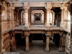 "Adalaj Stepwell is a unique Hindu ""Water building"" in the village of Adalaj, near the city of Ahmedabad in Gandhinagar district in the Indian state of Gujarat. The emmarchement was built in 1499 by the Muslim King Mohammed Begda for Queen Rani Roopba, wife of Veer Singh, the leader Vaghela. The step wells or ""Vav"" as it is called in Gujarati, is intricately carved and is five stories deep."