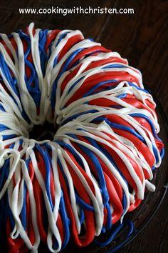 4th of July Red Velvet Bundt Cake