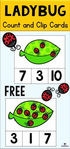 Today I would love to share with you our Ladybug Count and Clip Cards, which helps your kids to do counting from number 1 to number April Preschool, Free Preschool, Preschool Themes, Preschool Classroom, Preschool Learning, Teaching, Insect Activities, Work Activities, Grouchy Ladybug