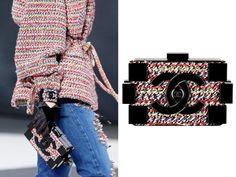 Chanel Tweed Lego Clutch Bag Fall 2013