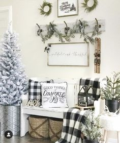 Looking for for images for farmhouse christmas tree? Browse around this site for amazing farmhouse christmas tree ideas. This unique farmhouse christmas tree ideas will look absolutely amazing. Christmas Entryway, Christmas Bedroom, Farmhouse Christmas Decor, Christmas Home, Kirklands Christmas, Vintage Christmas, Dining Room Wall Decor, Farmhouse Wall Decor, Entryway Decor