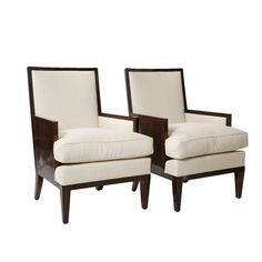 Pair of French Deco Parquetry Bergeres