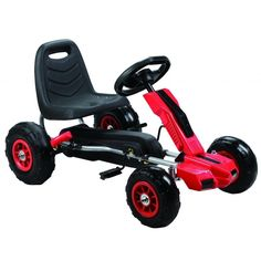 Your child will build strength and coordination with the power pedal go-kart. Features include an ergonomic seat back and brake to keep things under control, with durable materials for tons of fun.