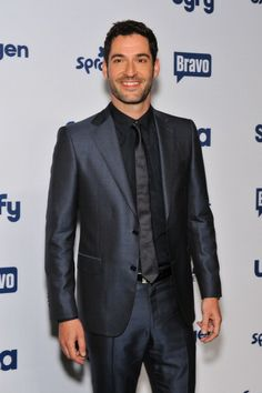 Tom Ellis at the 2014 NBC Universal Cable Entertainment Upfronts. Grooming by Sydney Zibrak.