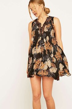 Shop Free People Dobby Dot Floral Slip Dress at Urban Outfitters today. Casual Jumpsuit, Jumpsuit Dress, Today Images, Lace Border, Urban Dresses, Dobby, Day Dresses, Dress To Impress, Urban Outfitters