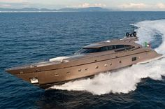 Love the colour! Latest 36m motor yacht AB116 by Fipa Group. #yacht #motoryacht…