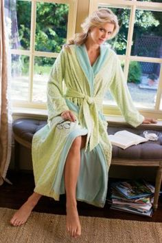 South Hampton Robe - Terry Lined Bathrobe, Chenille Bathrobe | Soft Surroundings