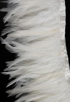 """Feather Trims White 5"""" x 72"""" long"""