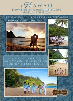 Destinations Portraits by Master Photographer Elizabeth Homan, Artistic Images. Hawaii....Summer 2014 http://portraitsbyelizabeth.com/?load=html#!/page/80043/destination-portraits