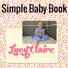 Take a look inside my album at my daughter's first year. You too can create a simple Project Life baby album! #digiscrap #scrapbooking