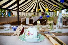 Bohemian Homemade Outdoor Cornwall Stripe Marquee Wedding http://www.alexapoppeweddingphotography.com/