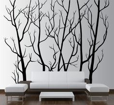 Cheap wall decor, Buy Quality wall art decor directly from China tree wall sticker Suppliers: Large Wall Art Decor Vinyl Tree Forest Decal Sticker (choose size and color) tree wall sticker mural Art wall decoration