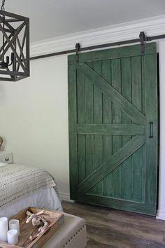 how to hang a sliding barn door