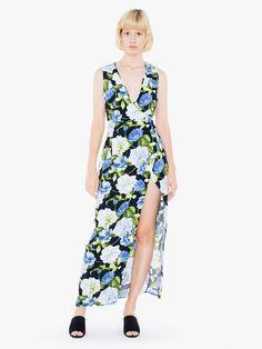 Below the Knee Wrap Dress