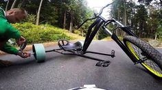 First Run With The Homemade Drift Trikes