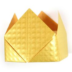 How to make a traditional origami crown (http://www.origami-make.org/traditional-origami-crown.php)