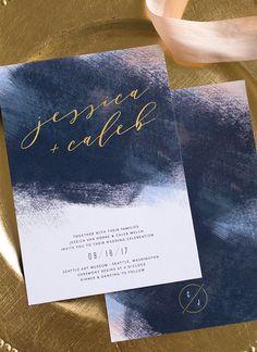 Unique and stunning wedding invitations from elli.com