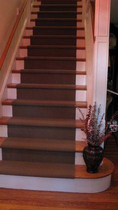 chocolate brown stair carpet