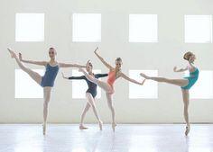 Ballet squadron wearing leotards.