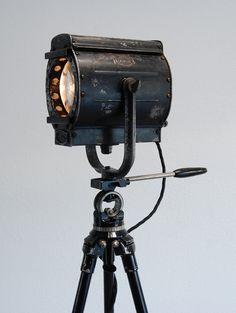 SOLD 30's Vintage Stage Light (Tripod Lamp)