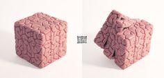 Rubiks Cube Brain Sculpt by *freeny on deviantART