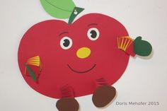 Unser Apfelmännchen ist zwar nicht essbar, aber trotzdem ein kleiner Genuss für unsere Augen. Eine Bastelidee für Herbsttage, einfach und wirkungsvoll!