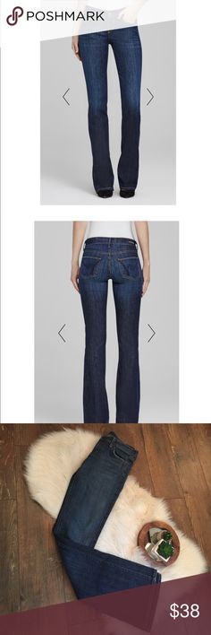 """Citizens of Humanity Low Waist Kelly Bootcut These are a pair of Citizens of Humanity jeans in the Kelly boot cut style. They are a size 27 and have a 34"""" inseam. These jeans are in excellent condition. Thanks! Citizens Of Humanity Jeans Boot Cut"""
