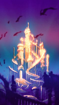 Little mermaid ariel alantica Disney Walt Disney, Disney Magic, Disney Art, Disney Ideas, Ariel Mermaid, Ariel The Little Mermaid, Little Mermaid Castle, Mermaid Disney, Disney Animation