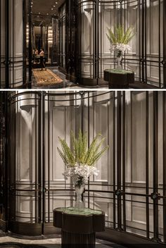 Four Seasons Hotel ShangXi Pudong Shanghai by AB_Concept_HK_Amazing Feature Wall! Design Hotel, Lobby Design, Restaurant Design, Interior Walls, Best Interior, Interior Design, Four Seasons Hotel, Ab Concept, Wall Design
