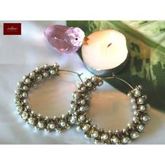 Designer Ethnic Partywear Fashion Jewellery Jhumka / Earrings / Hoops with Pearls