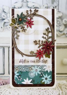 Delight In The Little Things Card by Melissa Phillips for Papertrey Ink (August 2015)