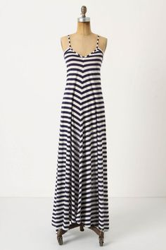 $68 at Anthropologie...can a girl have too many blue maxi dresses?