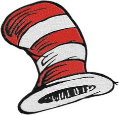 Dr.Seuss,cat in hat Machine Embroidery Design -- 0115