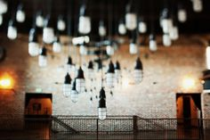 recycle bulbs for an idustrial-inspired light installation