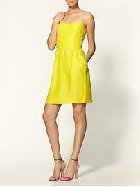 Rebecca Taylor Floral Silk Jacquard Stunning Strapless Dress