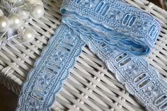 Blue cotton lace I Blue lace trim I Lace trim I Blue lace I Baby blue lace I Sewing supplies I Dolls dress lace I Shabby chic lace I Lace by SixthCraft on Etsy