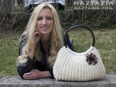 DIY Free Pattern and YouTube Video Tutorial - Crocheted Savvy Handbag Tote - written by Donna Wolfe from Naztazia for Crochet Savvy Magazine