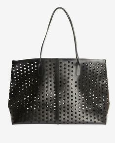 Rachel Comey Perforated Leather Market Tote @Pascale De Groof