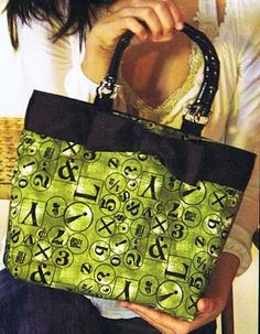 Day Bag Purse Pattern by Stephanie Brandenburg Studios  i just like the green fabric