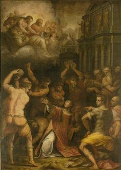 Stoning of St. Stephen - Giorgio Vasari