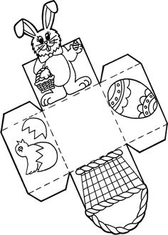 Easter İdeas 322429654553730183 - Paper Easter Basket Printable Template Source by kungfufairy Easter Art, Easter Crafts For Kids, Easter Projects, Kids Diy, Easter Basket Template, Easter Templates, Easter Egg Basket, Easter Baskets To Make, Easter Coloring Pages