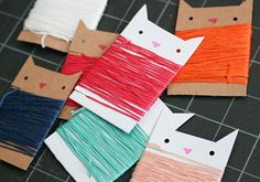 Kitty String Organizers | 10 Purrrrrfect Cat-Themed DIY Projects