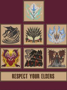 Monster Hunter World Elder Dragons by Kohs