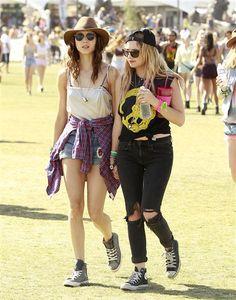 Co-star Coachella! Ashley Benson and Troian Bellisario