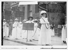 Photo shows Irish-American suffrage activist Margaret Hinchey, who also served as head of the Laundry Workers Union of New York. (Source: Flickr Commons project, 2010)  Forms part of: George Grantham Bain Collection (Library of Congress).