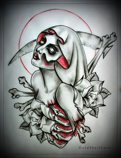 ©oldSkullLove  You can use my design for your TATTOO for free but in return please send a picture with finished tattoo to this email: oldSkullLovebyMW@gmail.com  Please don't modify, copy or use my work in another way than tattoo without my written permission. Thank you.