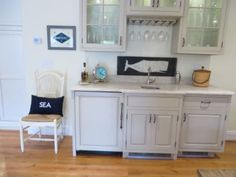 Whale Sign Nautical Clock And Nantucket Sign In Kitchen