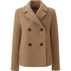 Women's Fashion Double Breasted Winter Pea Coat With Pockets (€43